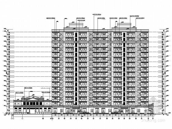 [湖南]15栋16层大型住宅小区及幼儿园建筑结构全套图(350张图)