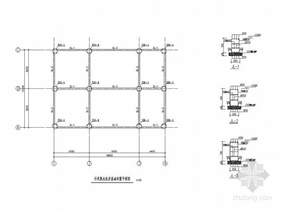 自来水厂污泥脱水机房结构施工图