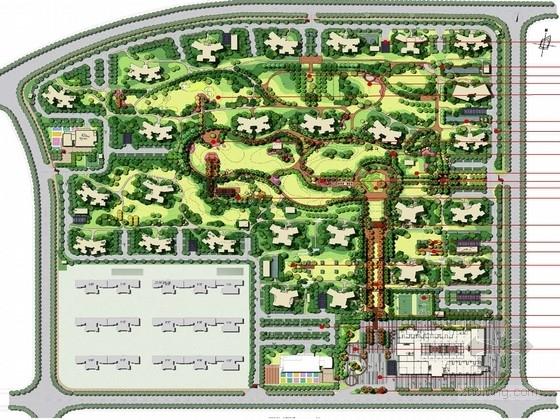 """[武汉]""""健康""""主题娱乐休闲运动社区景观规划设计方案"""
