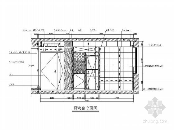 时尚优雅现代三居室装修图(含实景图) 立面图