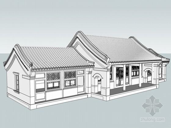 住宅古建筑SketchUp模型下载