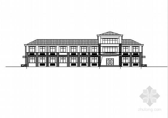 [河南]两层坡瓦屋面宿舍及综合楼建筑施工图(含结构电气图纸)