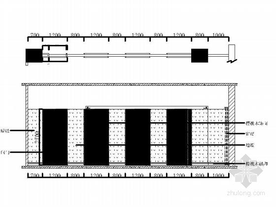 [北京]现代化产业园区高档研发大楼装修施工图总裁室立面图