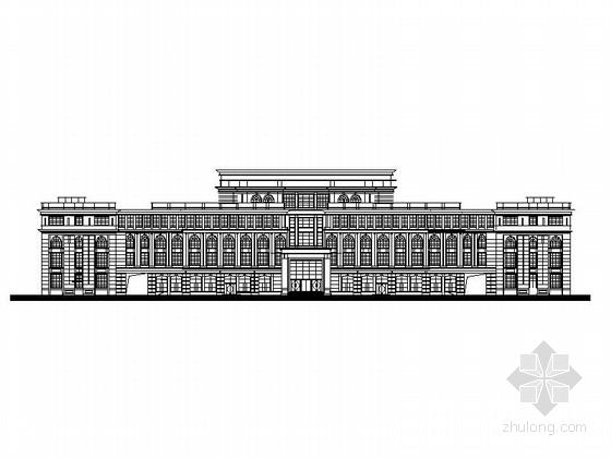 某五层欧式风格行政办公楼建筑方案图