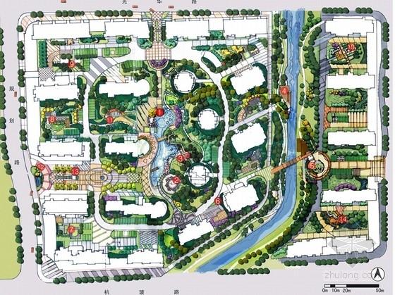 [杭州]现代简约住宅小区景观方案设计