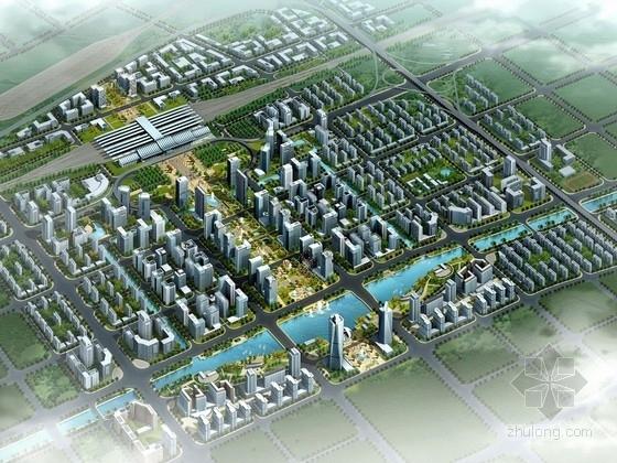 [山东]火车站周边地区规划及单体设计方案