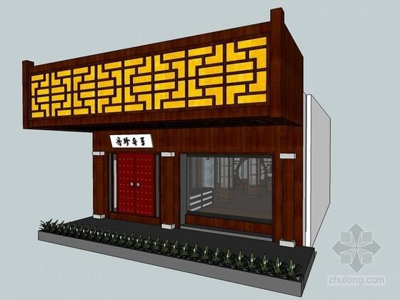中式古典茶馆SketchUp模型下载