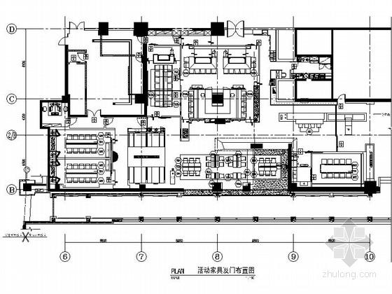[北京]豪华五星级饭店现代风格日本餐厅装修施工图