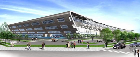 安徽某会展中心景观和建筑设计方案图片