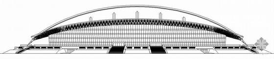 [深圳]某大学城体育中心体育馆建筑施工图(带节能设计)