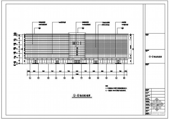 山西某店改造幕墙工程设计图