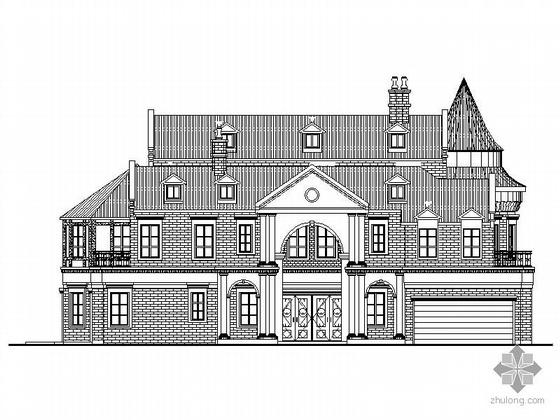 [张家口]某三层欧式小别墅建筑施工图