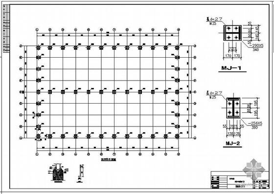某牛羊毛绒深加工钢结构厂房结构设计图