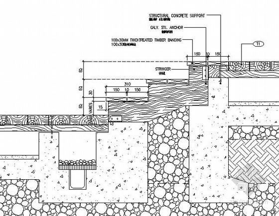木台阶做法详图