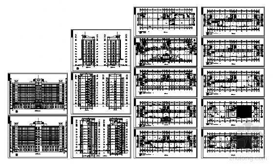 某厂区九层办公楼建筑方案图-4