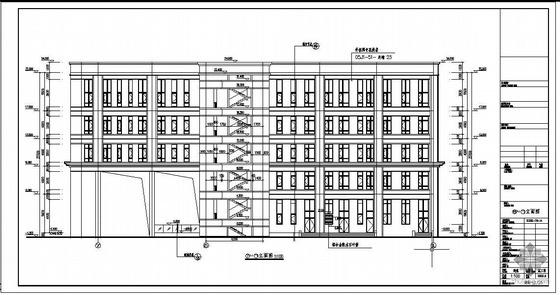 内蒙古某广场六层框架全套图纸(含建筑、结构、水暖设备图)