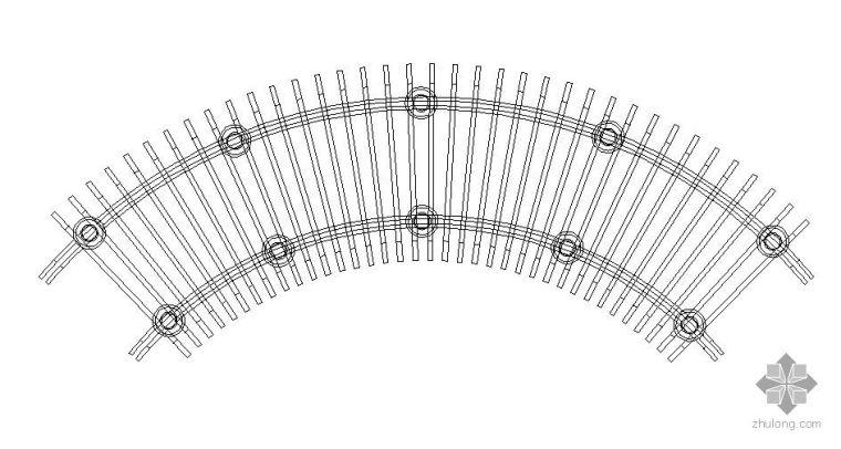 弧形花架做法详图