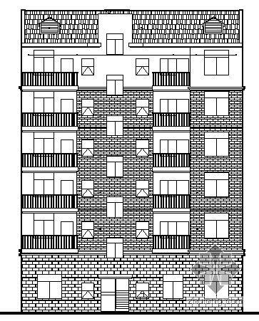 [益阳]某六层商住楼建筑施工图
