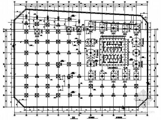 26层框架核心筒大厦结构施工图(含裙楼、架空层)