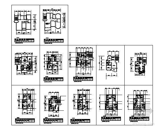 住宅楼二室二厅户型图集