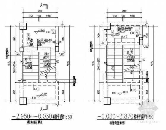 框架结构滑动支座楼梯节点详图