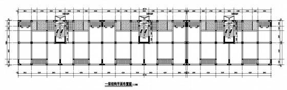 [四川]六层砖混(底框)结构商住楼结构施工图