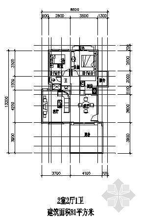 两室两厅一厨两卫81平方米