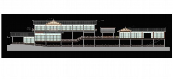 [深圳]中式风情文化主题快车旅馆室内装修方案图立面图