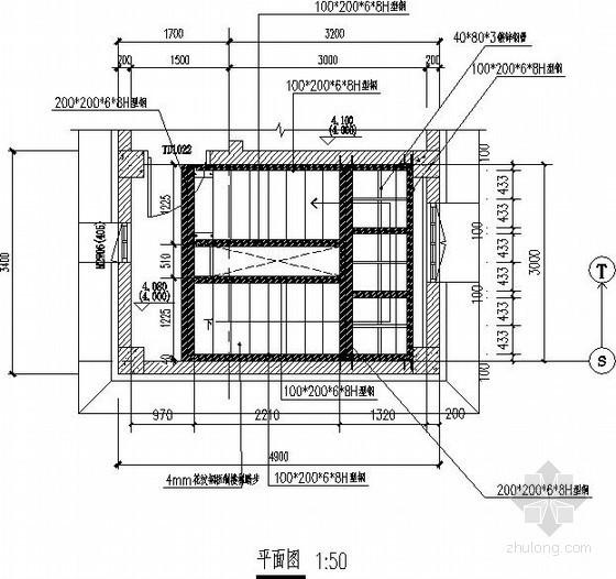 新增钢楼梯节点构造详图