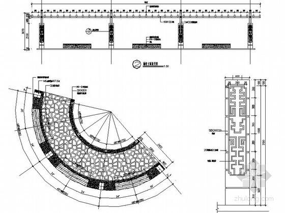 防腐木廊架施工图