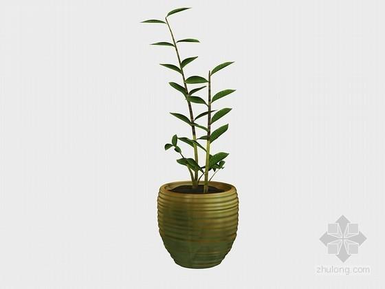 美景盆栽3D模型下载