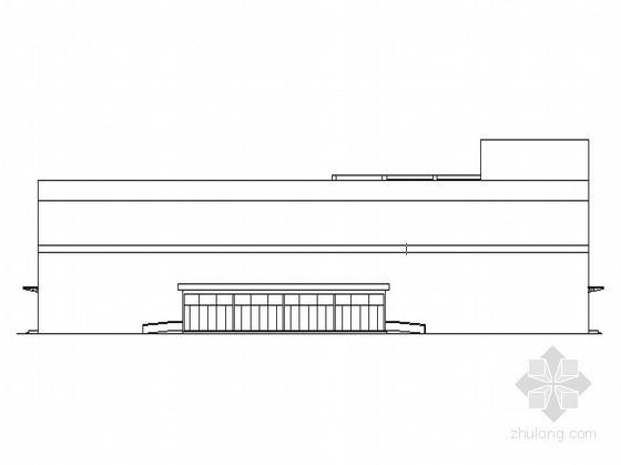 [潍坊]某购物广场大型钢结构超市建筑施工图