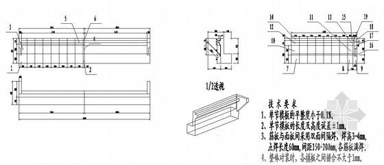 桥台模板拼装节点设计图