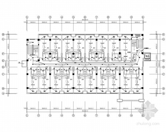 [江苏]办公综合楼电气施工图(含详细安装做法及消火栓按钮启泵线路系统图)