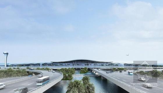 [河南]单个一体化屋顶枢纽机场建筑设计方案文本-单个一体化屋顶枢纽机场建筑效果图