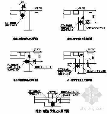北京某广场泳池水处理循环设计图纸
