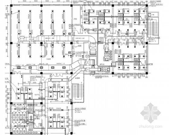 [北京]园区办公楼空调通风系统设计施工图(冷冻机房 消防泵房)