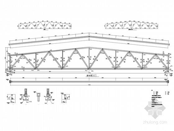 18米跨单层钢结构排架厂房结构施工图(含建施)