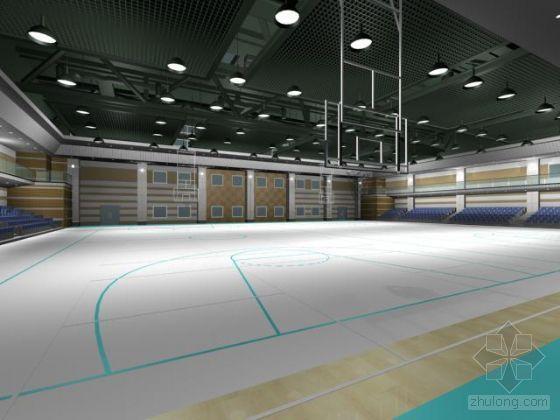 室内篮球场模型