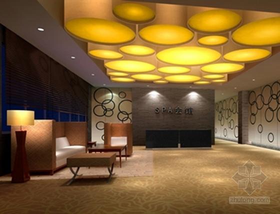 [江苏]历史文化名城高档现代风格星级宾馆装修施工图(含效果)dwg .zip接待区效果图