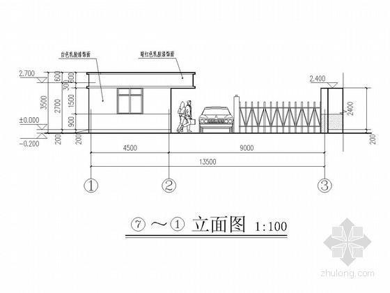 砌体结构安置房小区大门结构施工图(含建筑图)