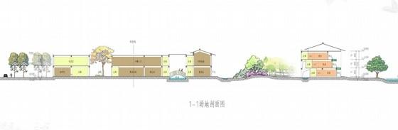 [江西]新中式风格道教养生休闲度假基地规划设计方案文本-新中式风格道教养生休闲度假基地剖面图