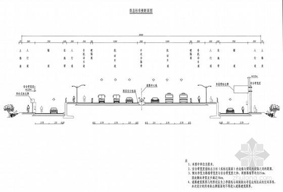 64m宽一级公路兼城市主干道工程全套施工图(718张道路管线交通桥涵)
