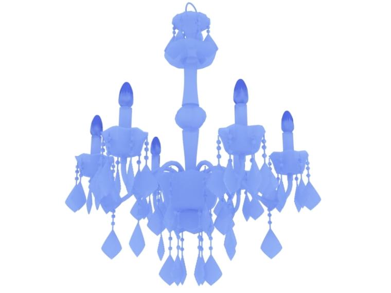 欧式水晶吊灯资料下载-欧式水晶灯3D模型下载
