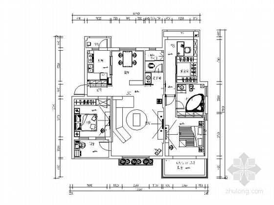 [江西]优雅欧式风格两居室装修图(含效果图)