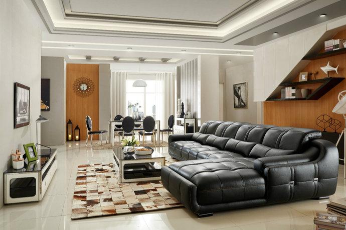 [讨论]现代简欧风格公寓大户型客厅装修效果图