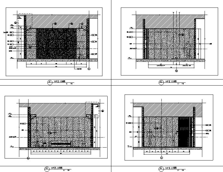 知名地产前海售楼处设计施工图(附效果图+物料清单+软装方案)-立面图