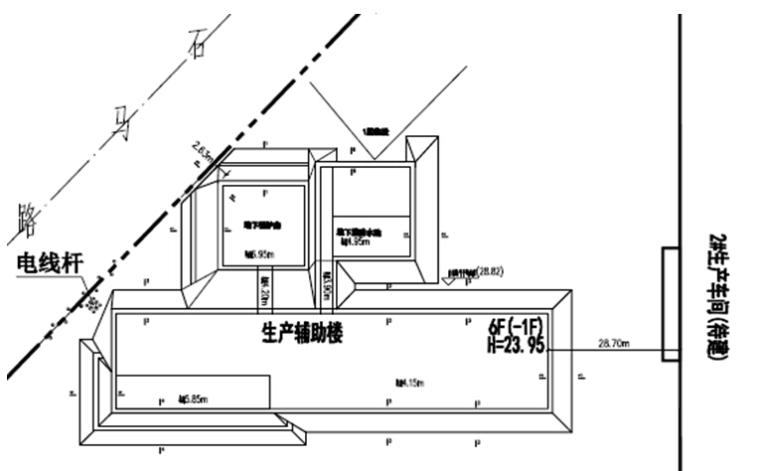 速递处理中心项目基坑土钉墙支护工程施工方案-基坑周边环境示意图
