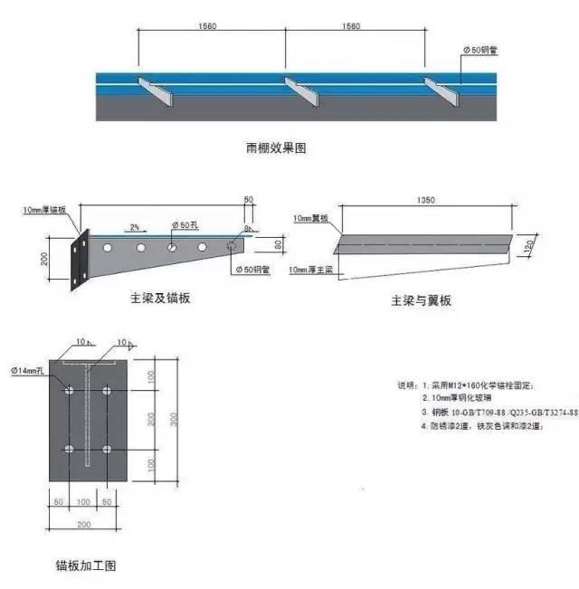 钢结构雨棚详细施工流程