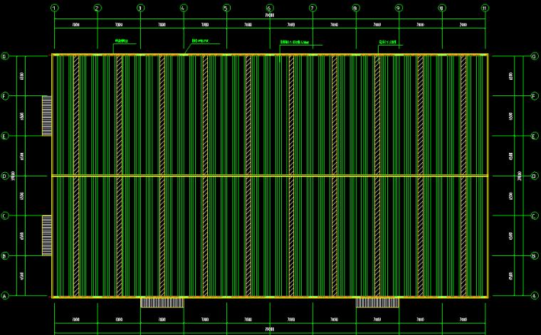 山东青岛单跨门式刚架工程施工图